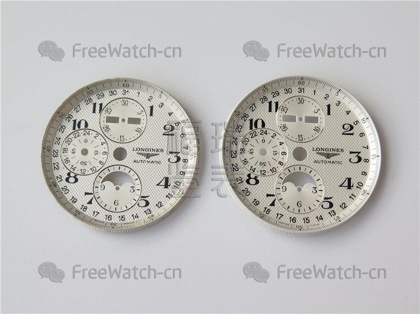 <b>3M厂浪琴月相名匠八针系列对比正品评测</b>